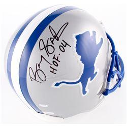 "Barry Sanders Signed Lions Full-Size Helmet Inscribed ""HOF 04"" (JSA COA  Schwartz Hologram)"