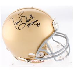 """Tim Brown Signed Notre Dame Fighting Irish Authentic On-Field Full-Size Helmet Inscribed """"Heisman '8"""