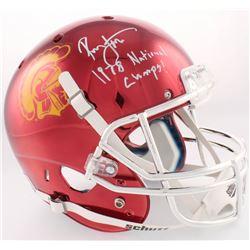 "Ronnie Lott Signed USC Trojans Custom Chrome Full-Size Helmet Inscribed ""1978 National Champs!"" (Rad"