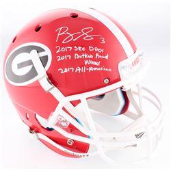 Roquan Smith Signed Georgia Bulldogs Full-Size Helmet With (3) Stat Inscriptions (JSA COA)