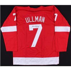 "Norm Ullman Signed Red Wings Jersey Inscribed ""HOF 82"" (Beckett COA)"