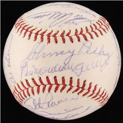 1963 American League All Star Team OAL Baseball Signed by (19) with Elston Howard, Nellie Fox, Luis