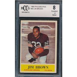 1964 Philadelphia #30 Jim Brown (BCCG 8)