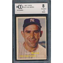 1957 Topps #2 Yogi Berra (BCCG 8)