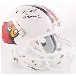 "Lamar Jackson Signed Louisville Cardinals Full-Size Helmet Inscribed ""Heisman '16"" (Radtke COA)"