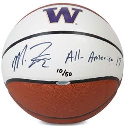 "Markelle Fultz Signed LE Washington Huskies Logo Basketball Inscribed ""All America '17"" (UDA Hologra"
