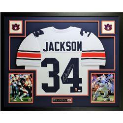 "Bo Jackson Signed Auburn Tigers 35"" x 43"" Custom Framed Jersey (JSA COA)"