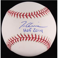 "Tom Glavine Signed OML Baseball Inscribed ""HOF 2014"" (Radtke Hologram)"