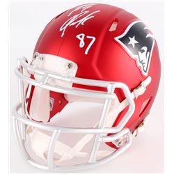Rob Gronkowski Signed Patriots Blaze Mini Helmet (Radtke COA)