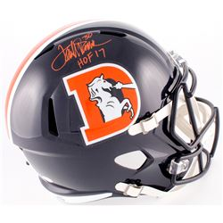 "Terrell Davis Signed Broncos Color Rush Full-Size Speed Helmet Inscribed ""HOF 17"" (JSA Hologram)"