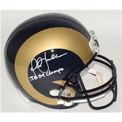 "Marshall Faulk Signed Rams Full-Size Helmet Inscribed ""SB 34 Champs"" (JSA COA)"