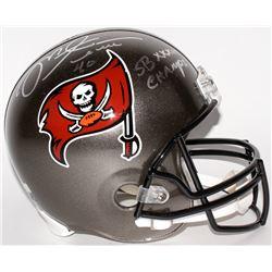 """Mike Alstott Signed Buccaneers Full-Size Helmet Inscribed """"SB XXXVII Champs!"""" (Radtke COA)"""
