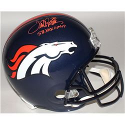 "Terrell Davis Signed Broncos Full-Size Helmet Inscribed ""SB XXXII MVP"" (Radtke COA)"