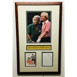 Jack Nicklaus  Angelo Argea Signed 13x21.5 Custom Framed Cut Display (JSA COA)