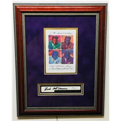 """Fats Domino Signed 13.5x17 Custom Framed Piano Key Display Inscribed """"Luck"""" (JSA COA)"""