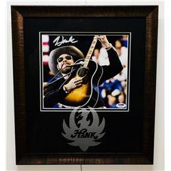 Hank Williams Jr. Signed 14.5x16.5 Custom Framed Photo Display (PSA COA)