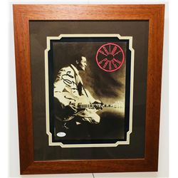 Chuck Berry Signed 15.5x18.5 Custom Framed Photo Display (JSA COA)