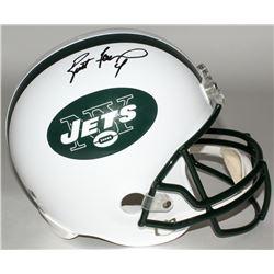 Brett Favre Signed Jets Full-Size Helmet (Favre COA)