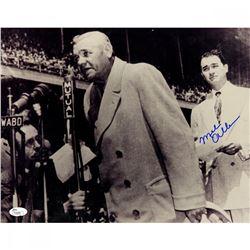 Mel Allen Signed 11x14 Photo with Babe Ruth (JSA Hologram)
