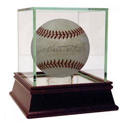 Walter Alston Signed ONL Baseball (PSA Hologram)