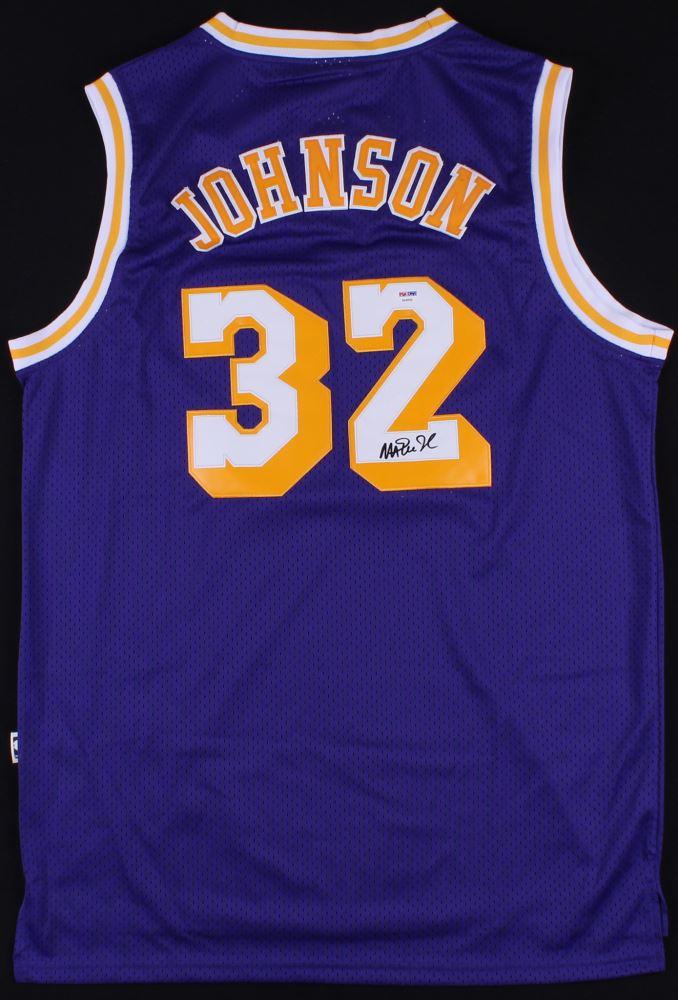 7f82b966ae2 Image 1 : Magic Johnson Signed Lakers Jersey (PSA COA)