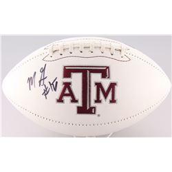 Myles Garrett Signed Texas AM Aggies Logo Football (JSA COA)