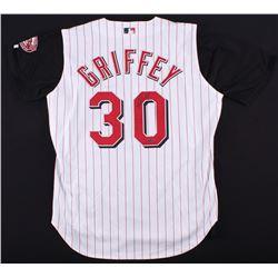 Ken Griffey Jr. Signed Reds World Series Anniversary Jersey (UDA COA)