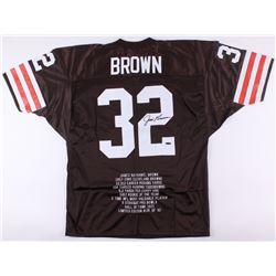James Brown Signed Browns Career Highlight Stat Jersey (TriStar Hologram)