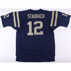 """Roger Staubach Signed Cowboys Jersey Inscribed """"63 Heisman"""" (TriStar COA  Staubach Hologram)"""