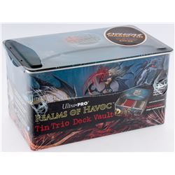 Realms Of Havoc Tin Trio Deck Vault Tin with (20) Mystery Magic Packs