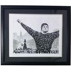 "Rocky Balboa ""Eye of the Tiger"" Word Art 22x27 Custom Framed Print Display"