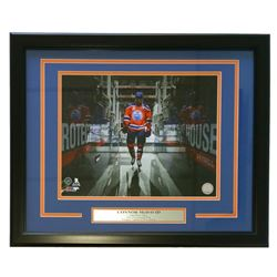 Connor McDvaid Oilers 18x22 Custom Framed Photo Display