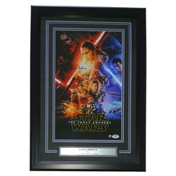 """Daisy Ridley Signed Star Wars """"The Force Awakens"""" 16"""" x 23"""" Custom Framed Movie Poster Display (PSA"""