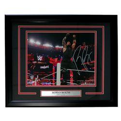 Roman Reigns Signed 16x20 Custom Framed Photo Display (SI COA)