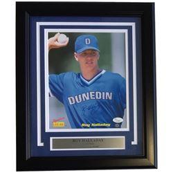 Roy Halladay Signed Blue Jays 11x14 Custom Framed Photo Display (JSA COA)