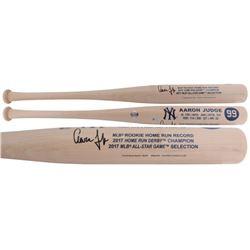 Aaron Judge Signed Yankees Custom Engraved Rookie Stat Baseball Bat (Fanatics)