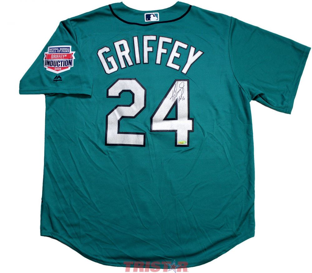size 40 355d1 2f4ea Ken Griffey Jr. Signed Mariners Jersey Inscribed