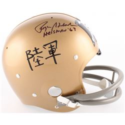 "Roger Staubach Signed Navy Midshipmen Throwback Suspension Full-Size Helmet Inscribed ""Heisman 63"" ("