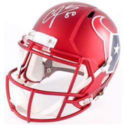 Andre Johnson Signed Texans Blaze Speed Full-Size Helmet (JSA COA)