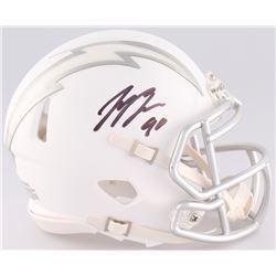 Joey Bosa Signed Chargers Custom Matte White ICE Speed Mini Helmet (JSA COA)