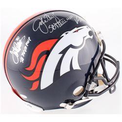 John Elway, Von Miller  Terrell Davis Signed Broncos Authentic On-Field Full-Size Helmet With (3) In