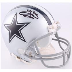 Emmitt Smith Signed Cowboys Mini-Helmet (Beckett COA)