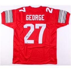 "Eddie George Signed Ohio State Buckeyes Jersey Inscribed ""Heimsn 95"" (JSA COA)"