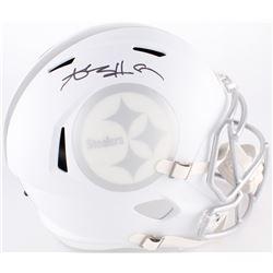 Antonio Brown Signed Steelers Full-Size Custom Matte White ICE Speed Helmet (JSA COA)