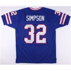 "O.J. Simpson Signed Bills Jersey Inscribed ""HOF 85"" (JSA COA)"