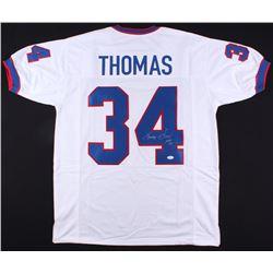 """Thurman Thomas Signed Bills Jersey Inscribed """"HOF 07"""" (JSA COA)"""