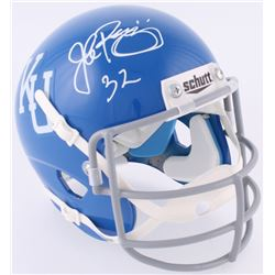 John Riggins Signed Kansas Jayhawks Throwback Mini-Helmet (JSA COA)