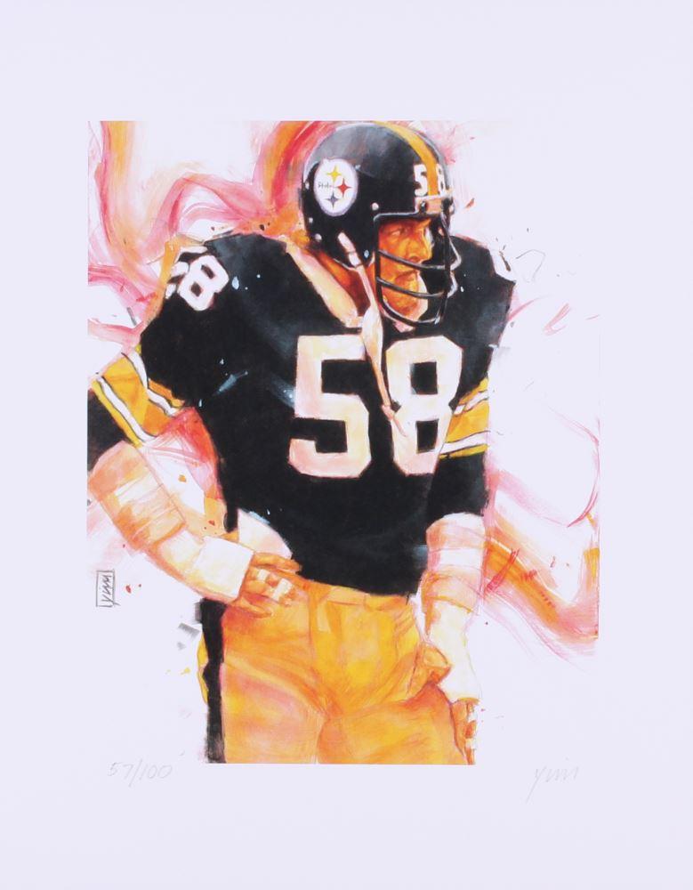60eea9b6833 Loading zoom · Image 1   John Yim - Jack Lambert Steelers 11x14 Signed  Limited Edition Fine Art Print