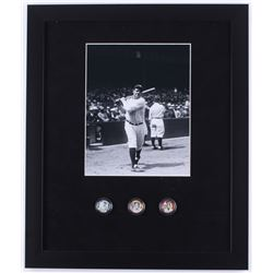 Babe Ruth New York Statehood Colorized Quarters 16x19 Custom Framed Display