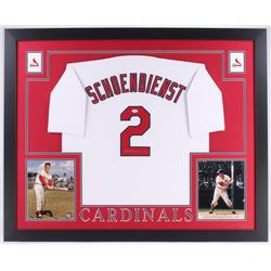 Red Schoendienst Signed Cardinals 35x43 Custom Framed Jersey (JSA COA)